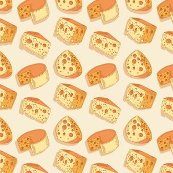 Patrón de quesos deliciosos
