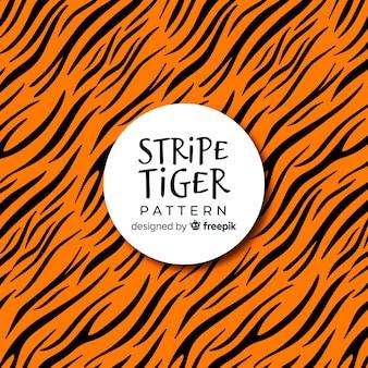 Patrón de rallas de tigre