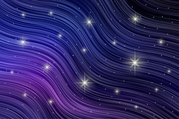 Patrón de rayas abstracto con luz de estrella parpadeante en color degradado