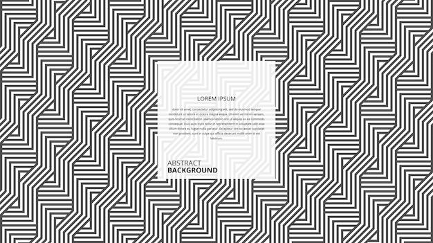 Patrón de rayas de forma cuadrada en zigzag decorativo abstracto