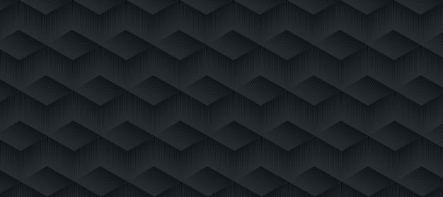 Patrón de rayas gris y negro abstracto.