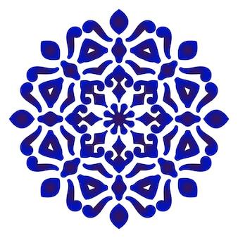 Patrón redondo floral
