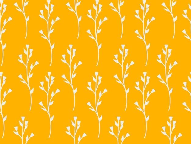 Patrón de repetición sin fisuras de flores y plantas. hermoso jardín decorativo de flores silvestres. hojas botánicas y estampado de flores para el diseño. papel pintado moderno minimalista abstracto. fondo de vector.