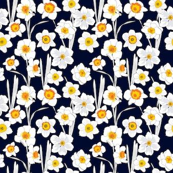 Patrón de repetición floral