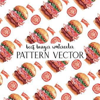 Patrón de restaurante de comida rápida