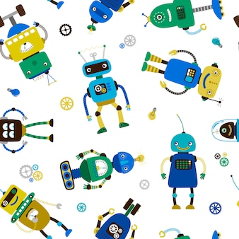 Patrón de robots graciosos