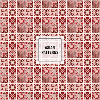 Patrón rojo asiático