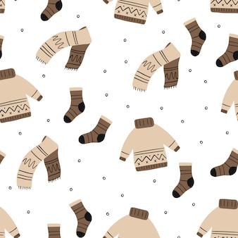 Patrón de ropa acogedora de invierno.