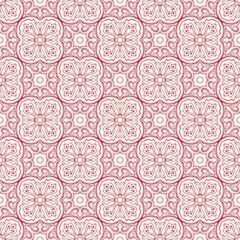 Patrón rosa con flores