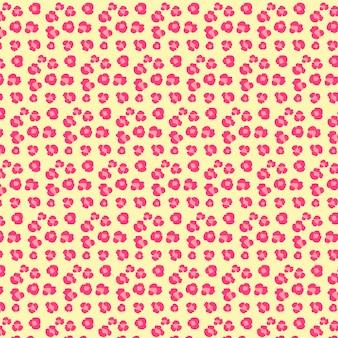 Patrón rosado de huellas de animal