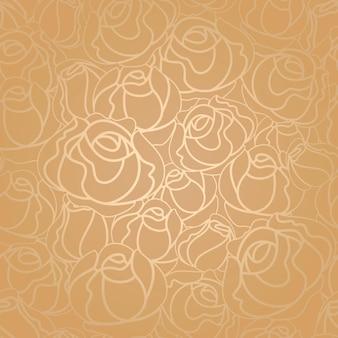 Patrón de rosas transparente