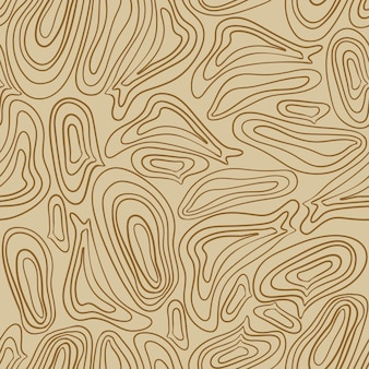 Patrón de safari sin costuras de moda en tonos verdes y marrones naturales formas abstractas dibujadas a mano