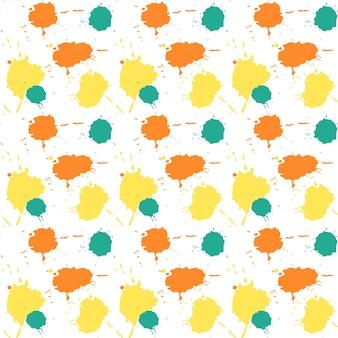 Patrón de salpicaduras de acuarela transparente dibujado a mano backgr abstracto