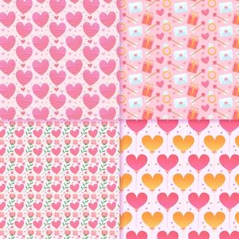 Patrón de san valentín con corazones de colores