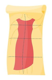 Patrón de sastre de dibujos animados de tela de moda