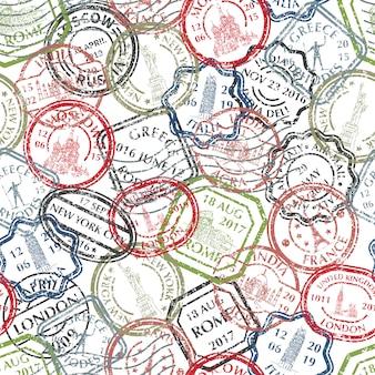 Patrón de sellos postales