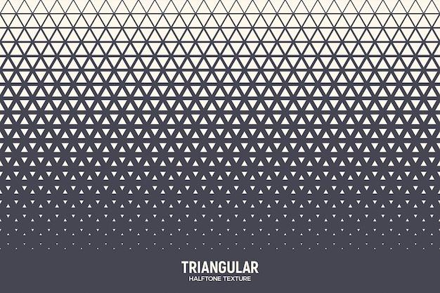 Patrón de semitono de triángulos fondo geométrico abstracto