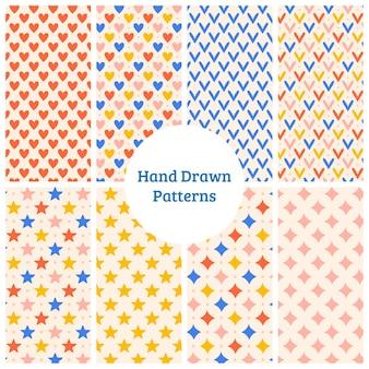 Patrón simple dibujado a mano
