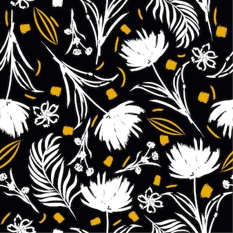 Patrón sin costuras de flor