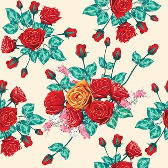 Patrón sin fisuras hermosa floral.
