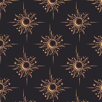 Patrón de sol de diseño plano