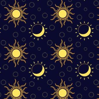 Patrón de sol plano