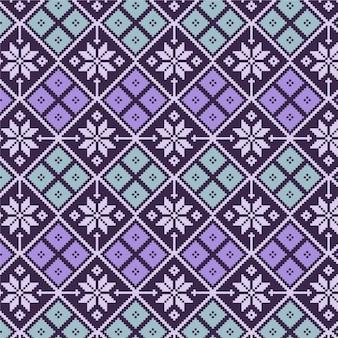 Patrón de songket de diamantes florales