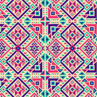 Patrón de songket de formas de colores vivos tradicionales