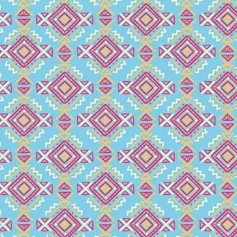 Patrón de songket con formas dibujadas