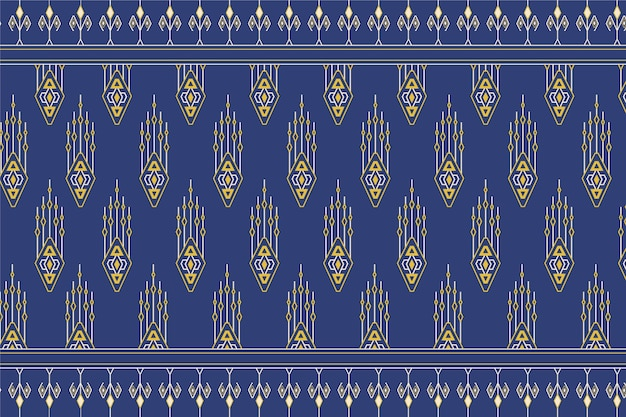 Patrón de songket tradicional con elementos amarillos