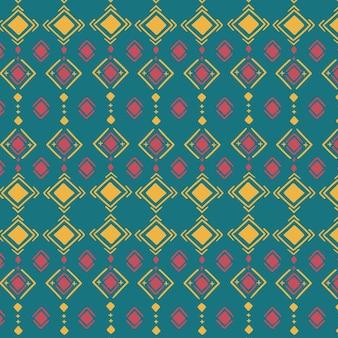 Patrón de songket tradicional multicolor