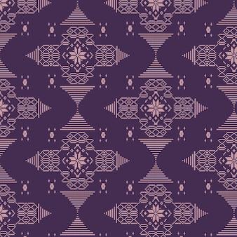 Patrón de songket tradicional púrpura