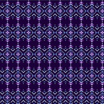 Patrón songket violeta y azul oscuro