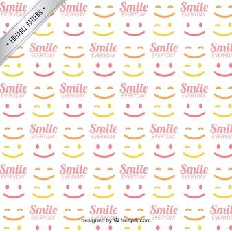 Patrón con sonrisas
