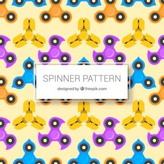 Patrón de spinners en diseño plano