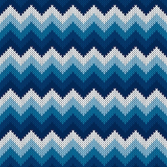 Patrón de suéter de punto abstracto de chevron