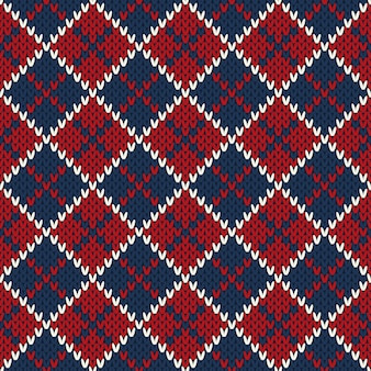 Patrón de suéter de punto de vacaciones de invierno. imitación de textura de punto de lana
