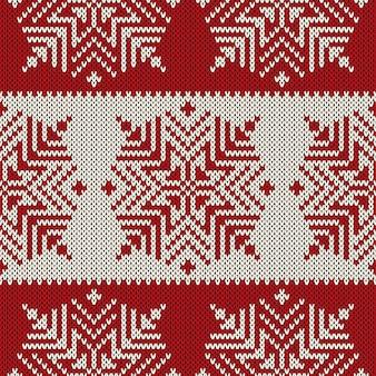 Patrón de suéter de punto de vacaciones de invierno.