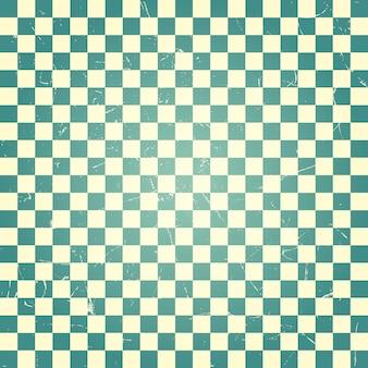 Patrón de tablero de ajedrez verde vintage