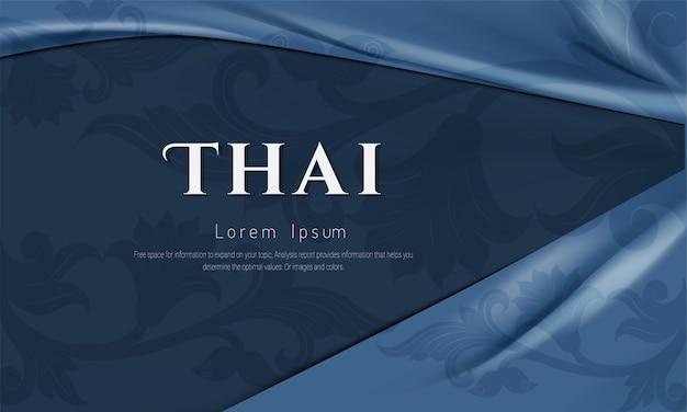 Patrón tailandés, asiático tradicional.