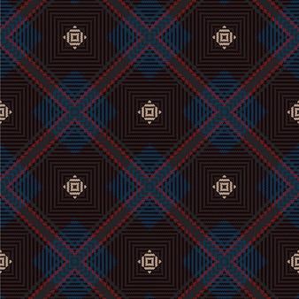 Patrón de tartán sin costuras. textura tejida escocesa.