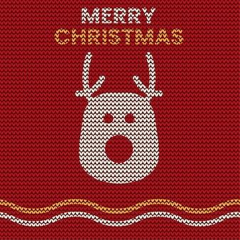 Patrón de tejer suéter de feliz navidad