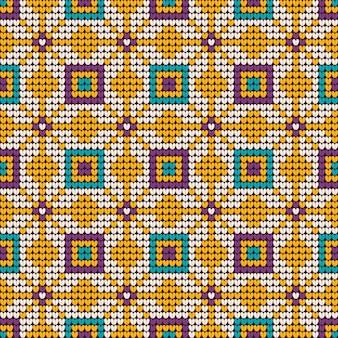 Patrón de tejido de navidad de la abuela en colores menta y lavanda