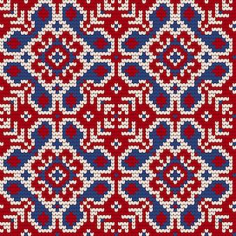 Patrón de tejido tradicional para suéter feo