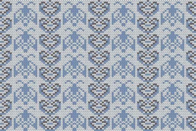 Patrón de tejido de vacaciones de navidad e invierno para cuadros.