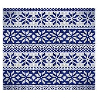 Patrón de tela nórdico azul