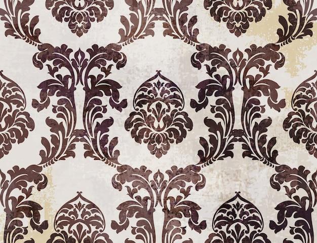 Patrón de textura barroca real