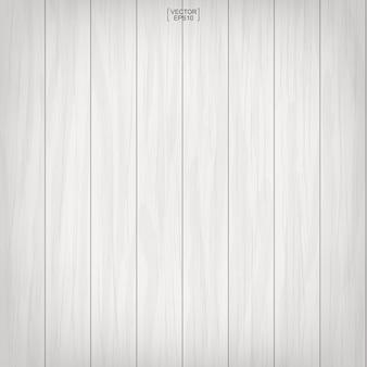 Patrón y textura de madera blanca para el fondo