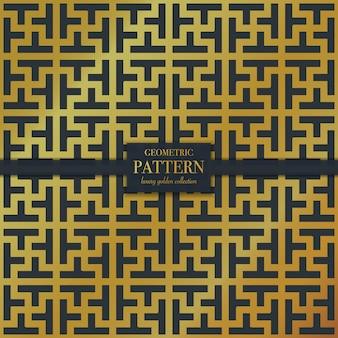 Patrón de textura de mosaico dorado de lujo geométrico