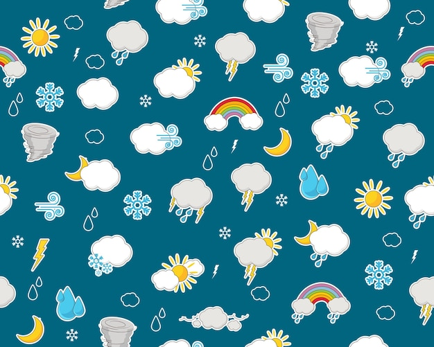 Patrón de textura plana transparente de vector informe meteorológico